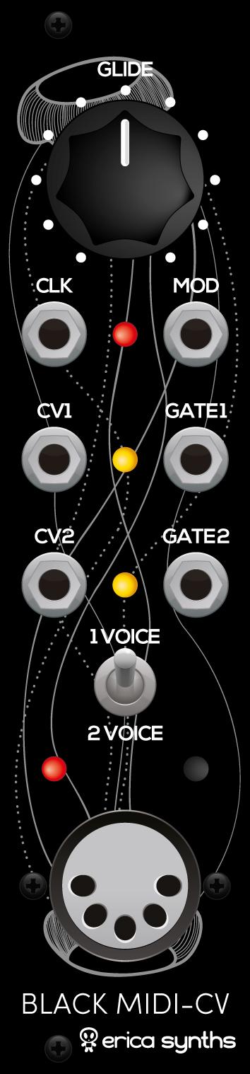 EricaSynths - Black MIDI-CV V2